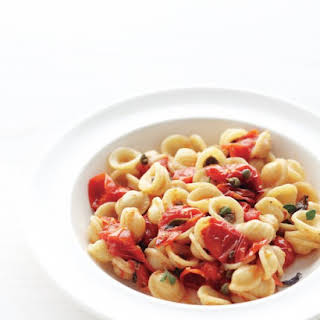 Pasta with Roasted Tomatoes and Capers.