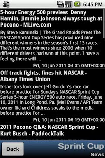 Nascar Info - screenshot thumbnail