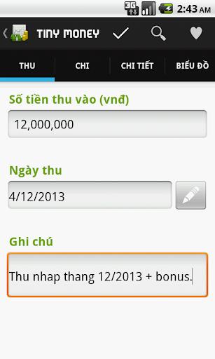 【免費財經App】Tiny Money - Kế hoạch thu chi-APP點子