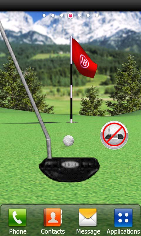 Golf Putting Live Wallpaper- screenshot