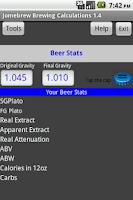 Screenshot of Beer Stats and Conversions
