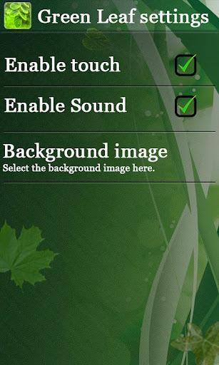 【免費個人化App】Green Leaf Live Wallpaper-APP點子
