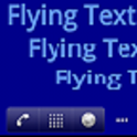 Flying Text Live Wallpaper icon