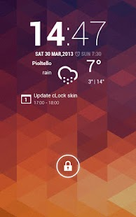cLock Weather Widget UCCW skin - screenshot thumbnail