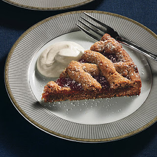 Apricot Linzertorte with Quark Whipped Cream