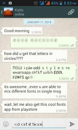 Cool Fonts for Whatsapp & SMS 2.0 screenshot 227825