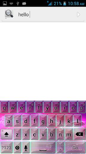 粉红色的自然主题键盘