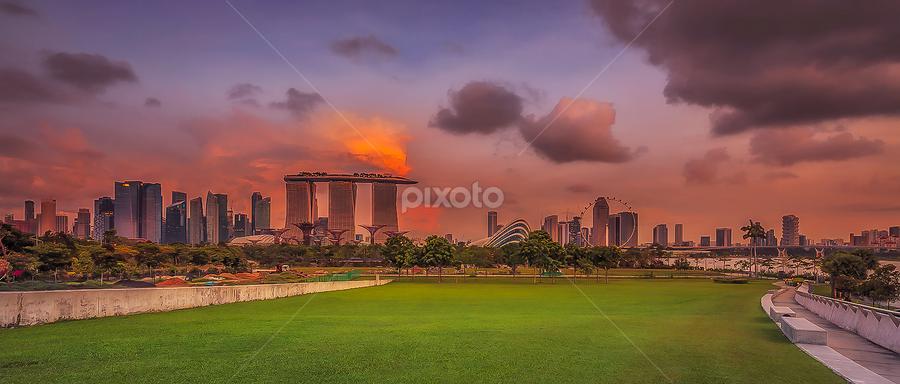 Good Afternoon Singapore.. by Hendrik Priyanto - City,  Street & Park  City Parks