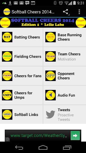 Softball Cheers 2014 Edition 1