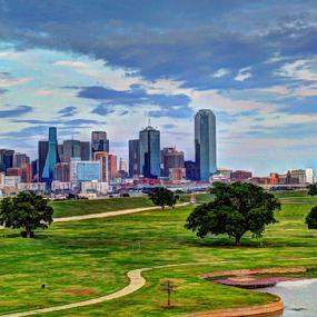Dallas Skyline by Sal 1701 - City,  Street & Park  Skylines