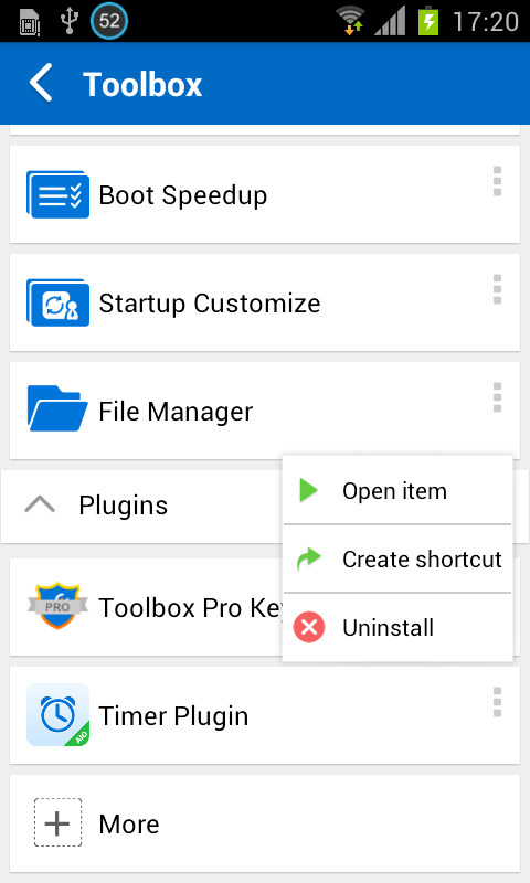 Auto Tasks Plugin - Clean Junk- screenshot