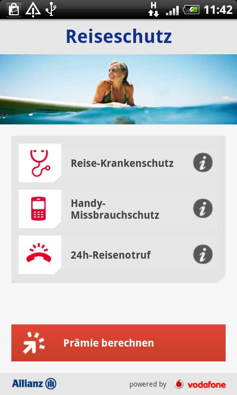 Allianz ReiseApp - screenshot