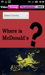 McDonald's Position on Map - screenshot thumbnail