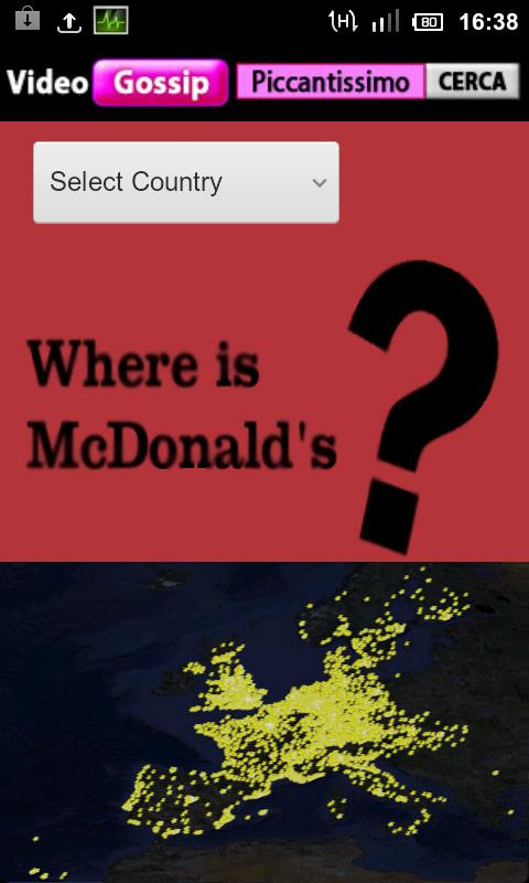 McDonald's Position on Map - screenshot