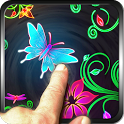 Hibiscus Neon LWP Magic Effect icon