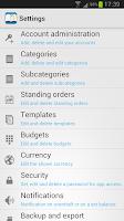 Screenshot of The Budget Book Pro