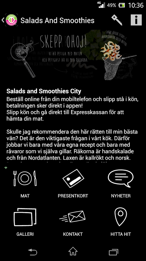 Salads and Smoothies- screenshot