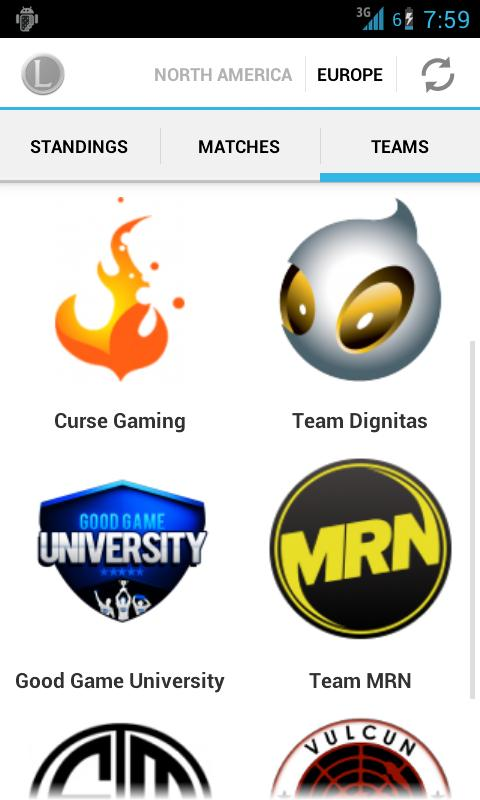 LoL eSports by Leaguepedia - screenshot