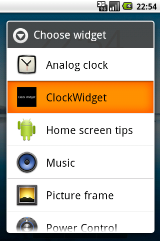 Clock Widget alpha version