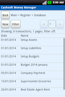 Cashsoft Money Manager (Demo) - screenshot thumbnail