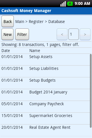 Cashsoft Money Manager (Demo) - screenshot