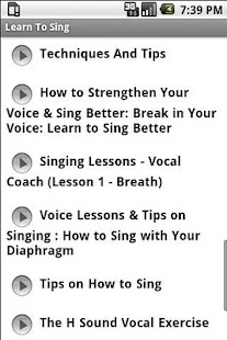 Learn To Sing - screenshot thumbnail