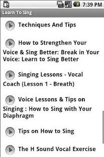 Learn To Sing - screenshot thumbnail