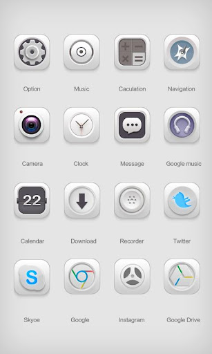 White Soul GO Launcher Theme v1.0 screenshots 8