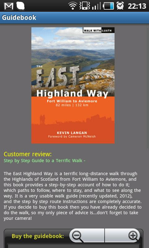 East Highland Way- screenshot