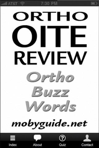 OITE Ortho Buzzwords- screenshot