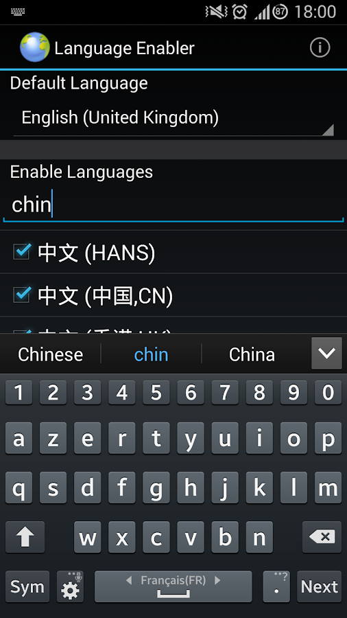 Language Enabler - screenshot