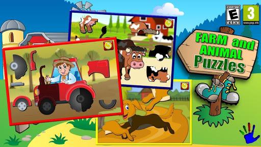 孩子们农场和动物拼图