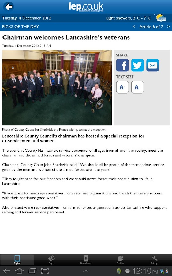 The Lancashire Evening Post - screenshot