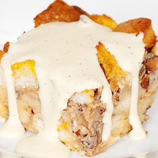 Bourbon Pumpkin Bread Pudding with Bourbon Sauce Recipe