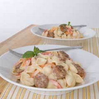 Creamy Pasta With Sausage & Peppers.
