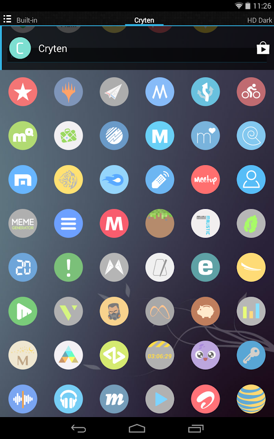 Cryten - Icon Pack- screenshot