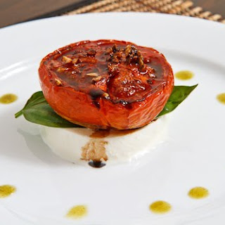 Balsamic Roasted Tomato Caprese Salad