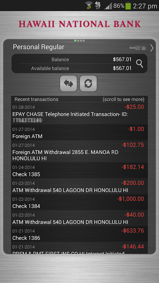 HNB Mobile Banking- screenshot