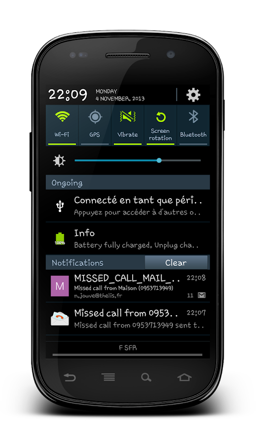 Missed Call Mail Notifier- screenshot