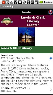 Lewis & Clark Library Catalog- screenshot thumbnail