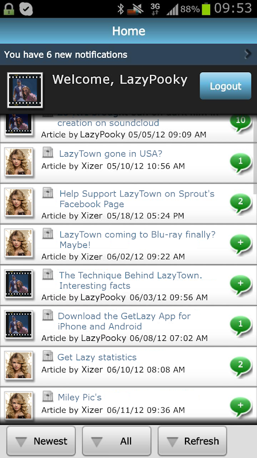 LazyTown Forum - GetLazy - screenshot
