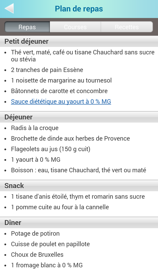 La Chrono Géno Nutrition- screenshot