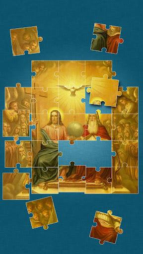 上帝 和 耶穌 拼圖 遊戲 遊戲