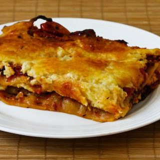 Vegetarian Lasagna with Quick-Roasted Tomato and Herb Sauce.