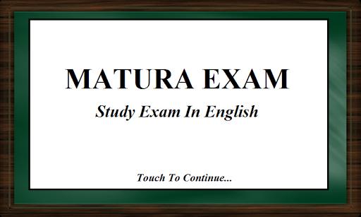 Matura Exam in English 2015