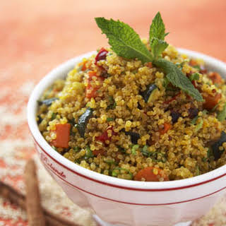 Quinoa with Butternut Squash, Cinnamon and Mint.