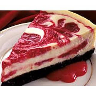 Cherry Swirled Cheesecake.
