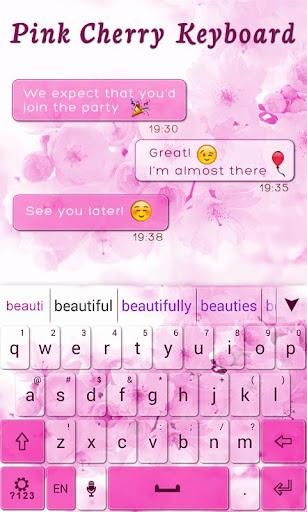 【免費個人化App】Pink Cherry GO Keyboard Theme-APP點子