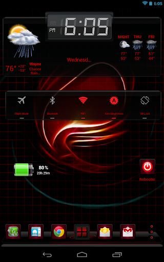 Next Launcher 3D Red Swirl HD