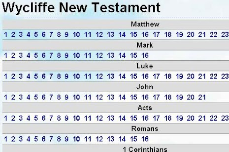 Bible Wycliffe New testament - screenshot thumbnail